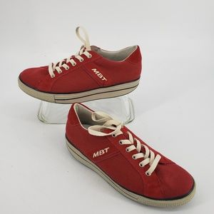 MBT Jambo Red Canvas Sneakers 9 9.5 US